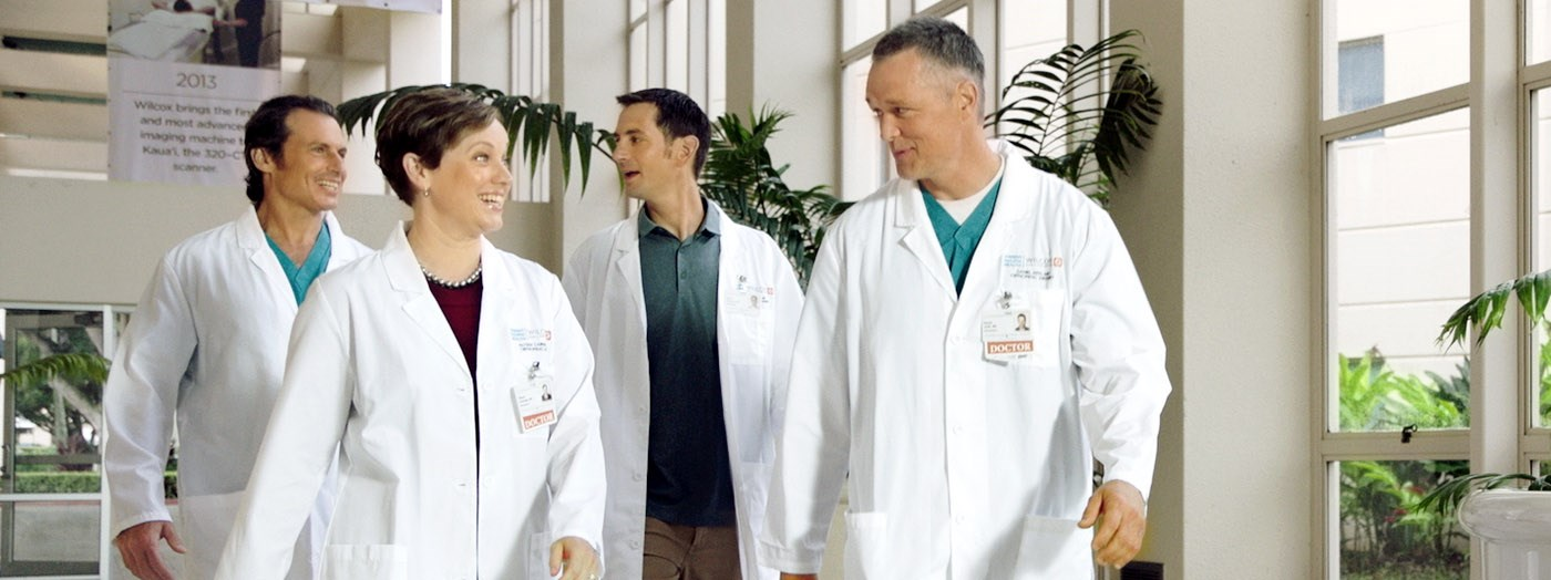 a group of doctors on duty